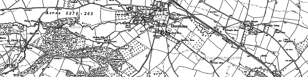 Old map of Arthur's Stone (Burial Chamber) in 1903