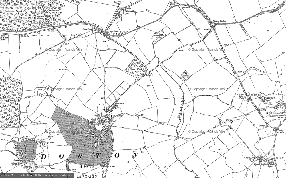 Old Map of Historic Map covering Ashfold School in 1898