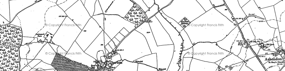 Old map of Ashfold School in 1898