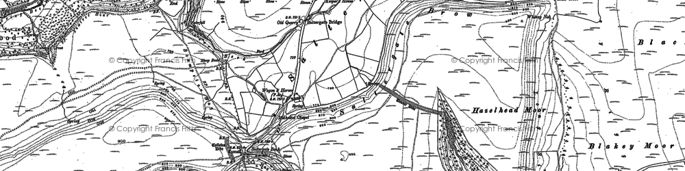 Old map of Allerston High Moor in 1889