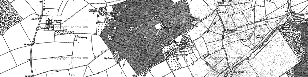 Old map of Doughton in 1881