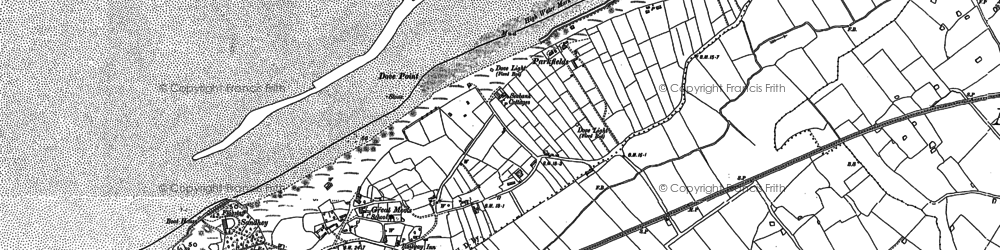 Old map of Great Meols in 1909