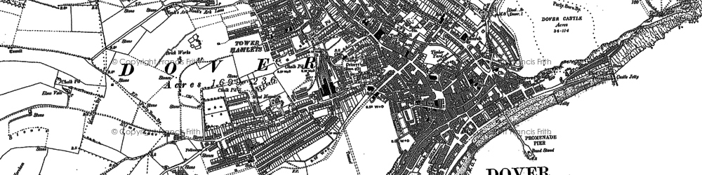 Old map of Aycliff in 1906