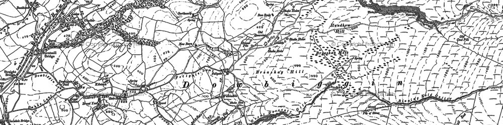 Old map of Thursgill in 1907