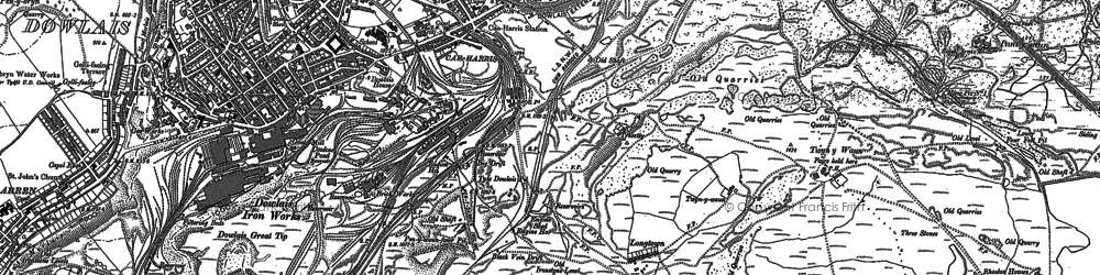 Old map of Caeharris in 1879