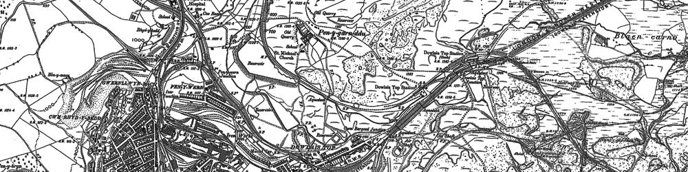 Old map of Twyn y Waun in 1879