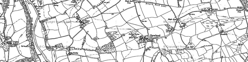 Old map of Tockley in 1885
