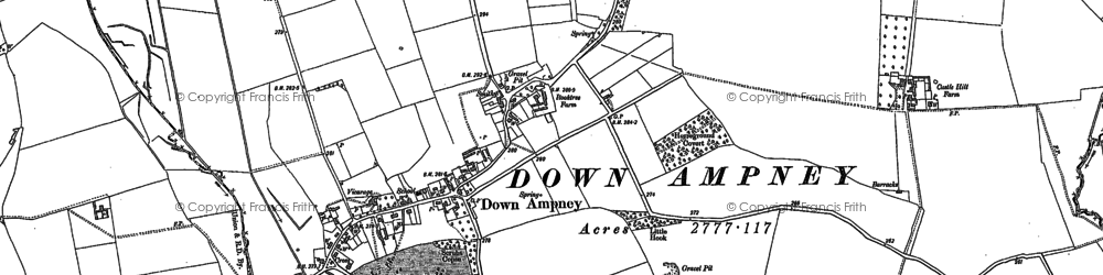 Old map of Down Ampney in 1898