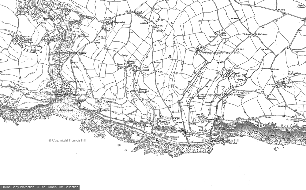 Map of Downderry, 1881 - 1905