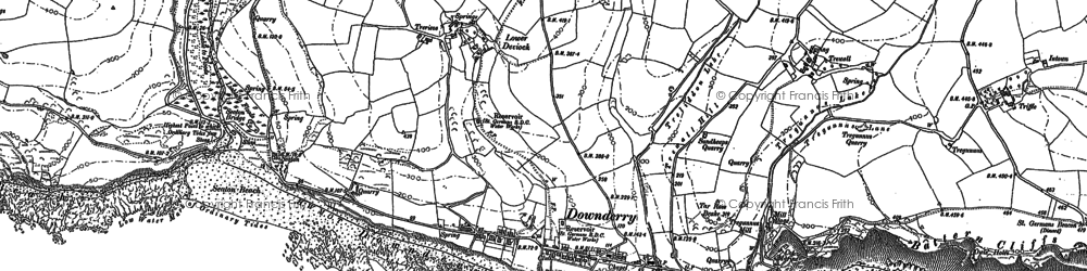 Old map of Downderry in 1881