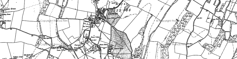 Old map of Downe in 1895