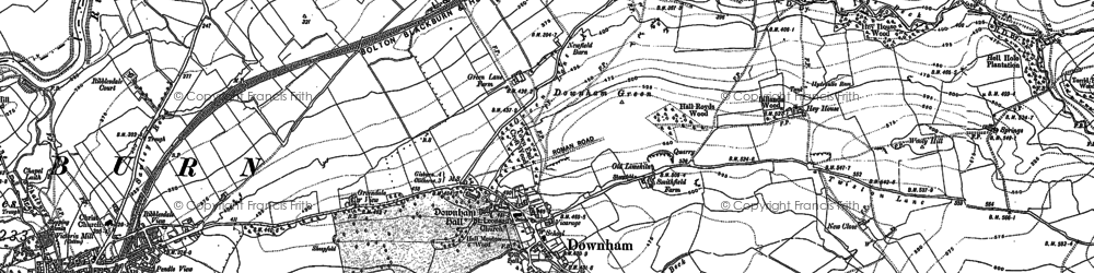 Old map of Downham in 1910