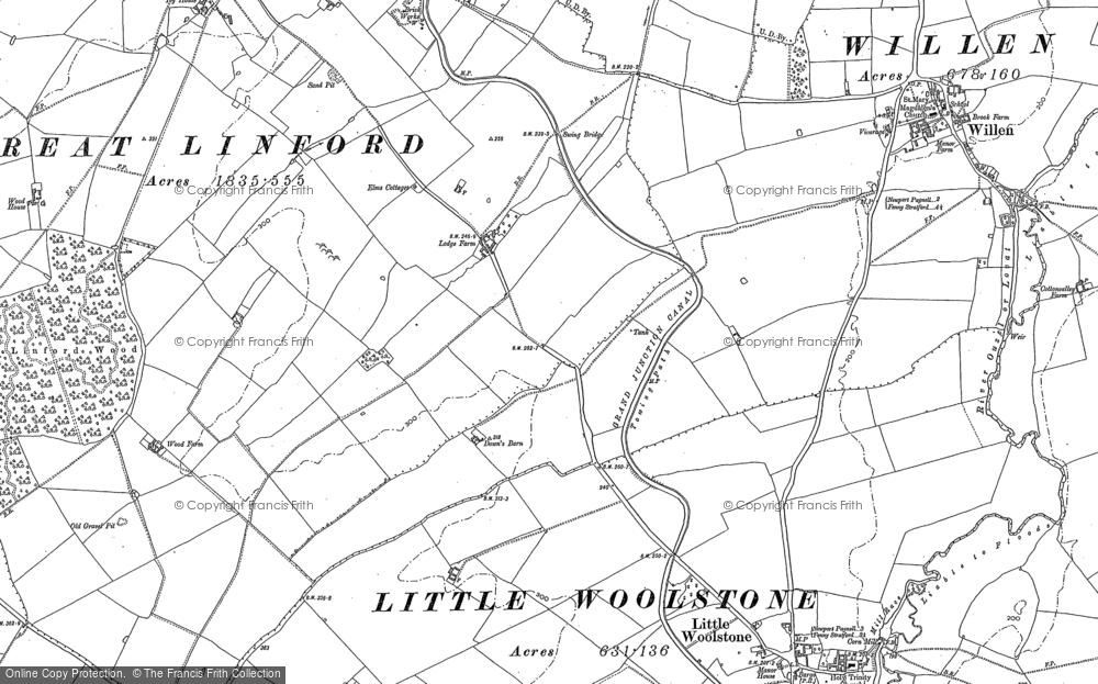 Old Map of Downhead Park, 1924 in 1924