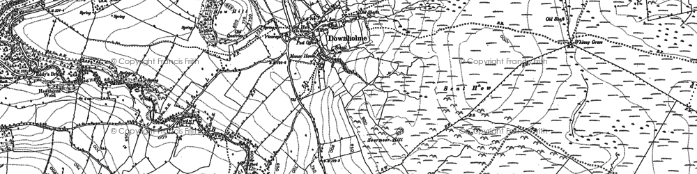 Old map of Downholme in 1891