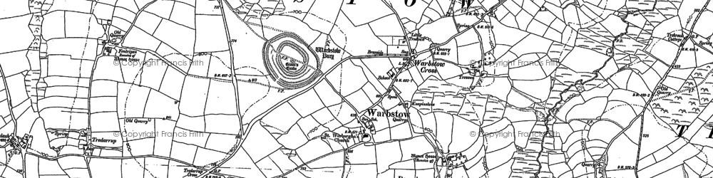 Old map of Downinney in 1882
