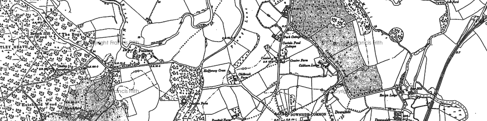 Old map of Hatchford in 1894