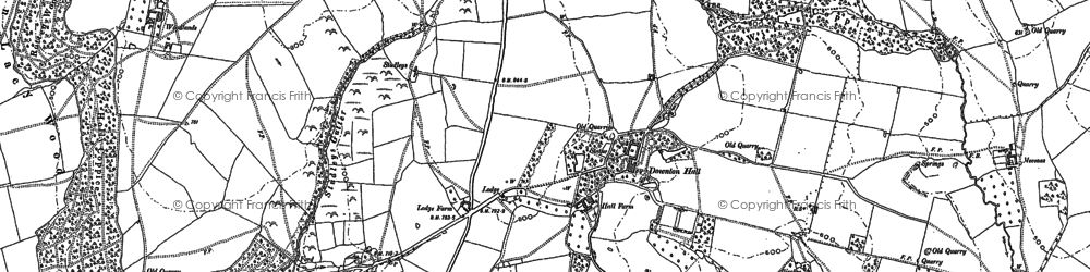 Old map of Woodlands in 1883