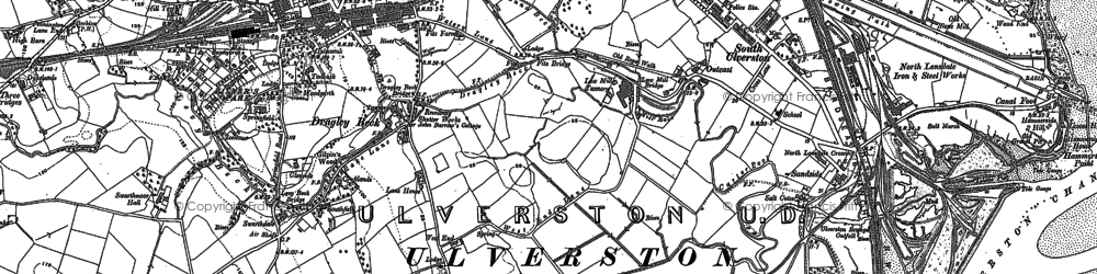 Old map of Levy Beck in 1911