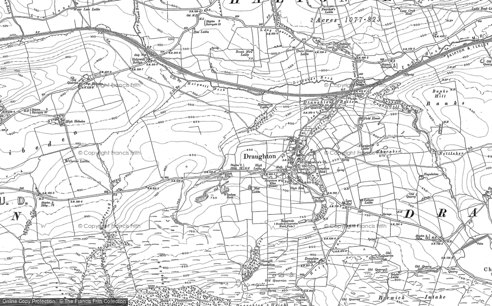 Old Map of Historic Map covering Banks in 1907