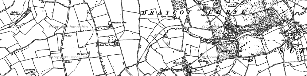 Old map of Draycot Cerne in 1899