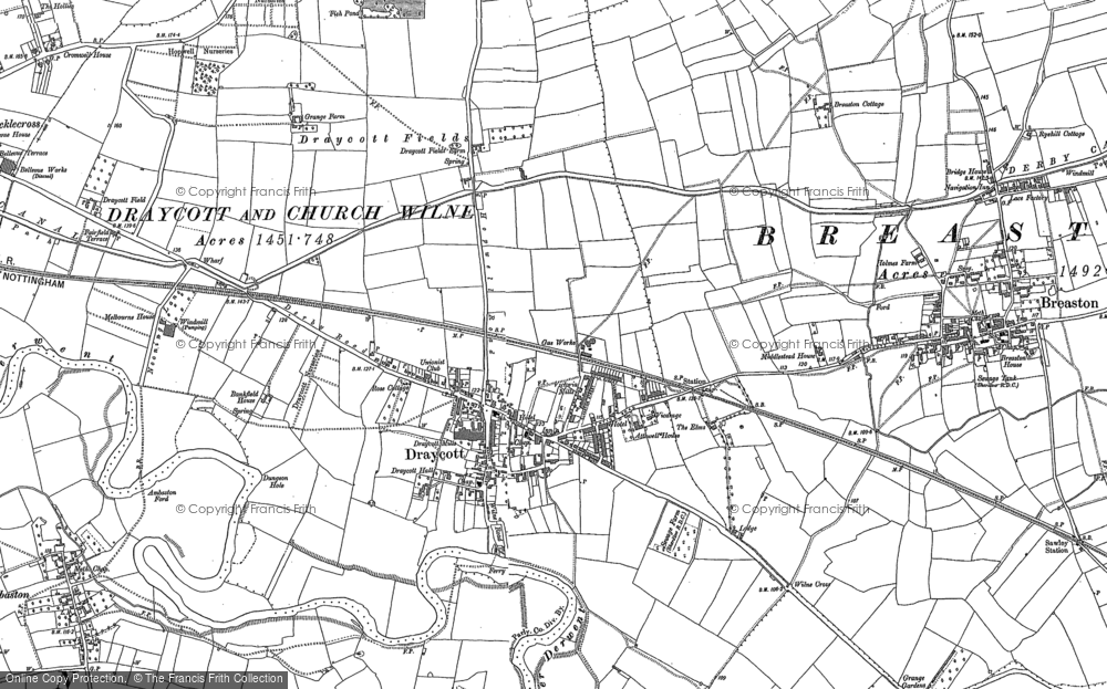 Old Maps Of Draycott Francis Frith - Chur map