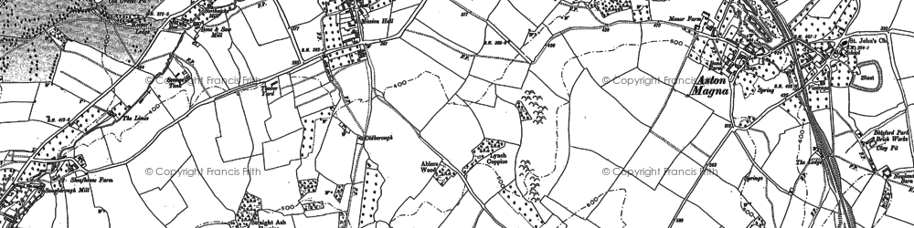 Old map of Draycott in 1883