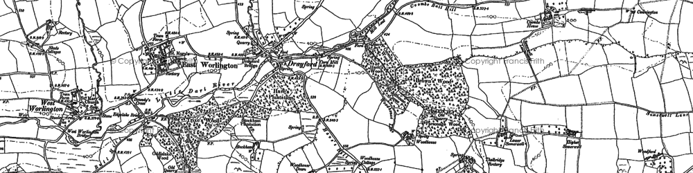 Old map of West Yeo in 1887