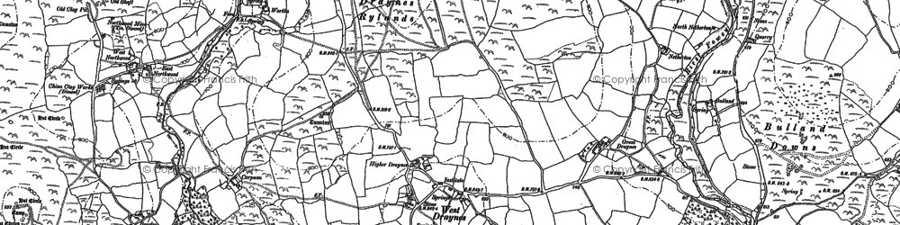 Old map of Whitebarrow Downs in 1882