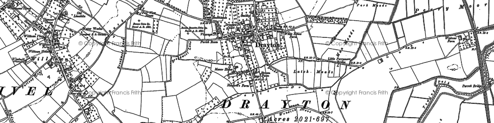 Old map of Whitecross in 1885