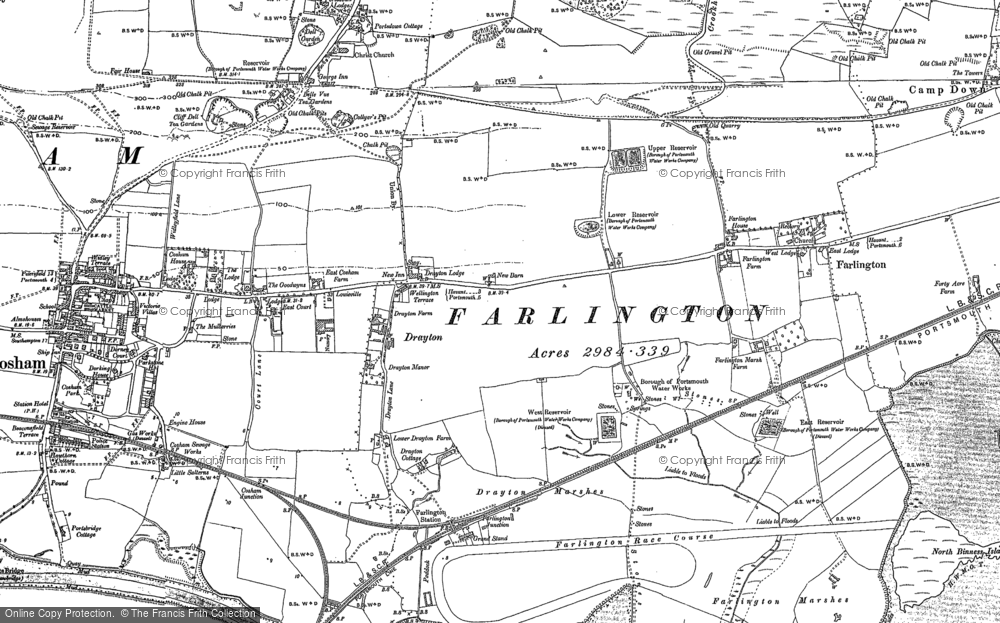 Old Map of Drayton, 1895 - 1907 in 1895