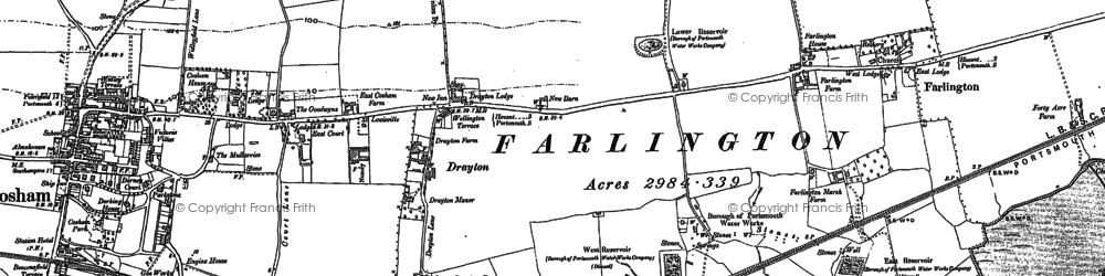 Old map of Drayton in 1895
