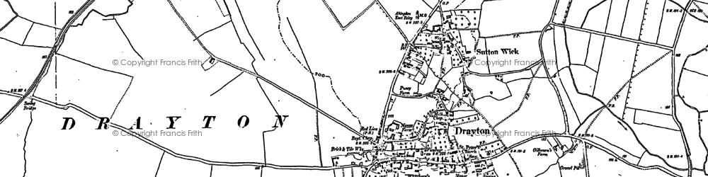 Old map of Drayton in 1898