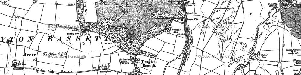 Old map of Drayton Bassett in 1901