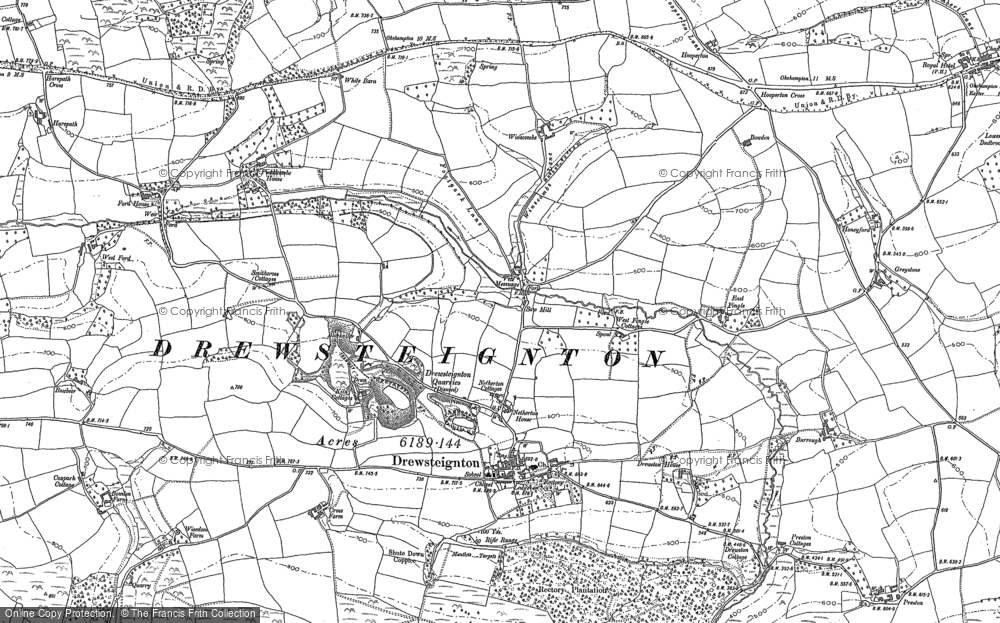Old Map of Historic Map covering Bakesdown in 1884