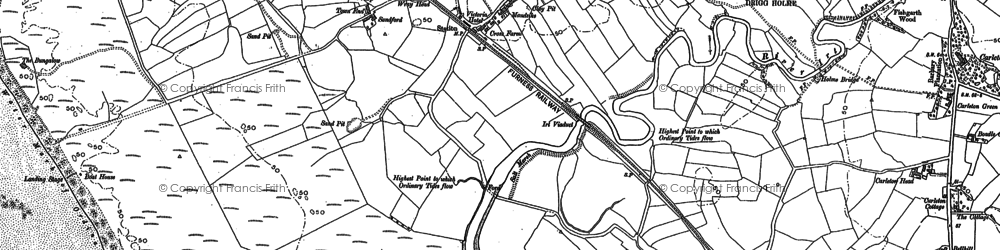 Old map of Drigg in 1898