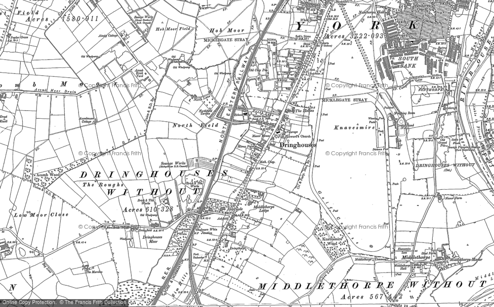 Old Map of Historic Map covering Askham Bogs in 1890
