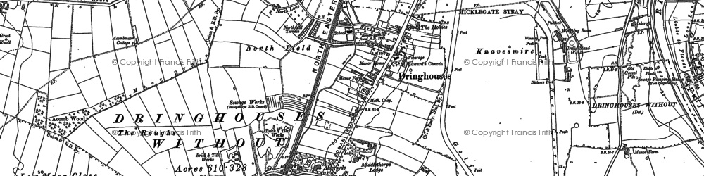Old map of Askham Bogs in 1890