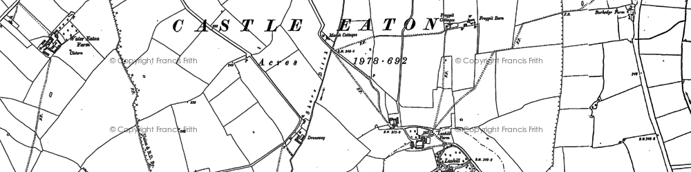 Old map of Ashmead Brake in 1898