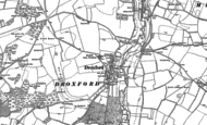 Old Map of Droxford, 1895