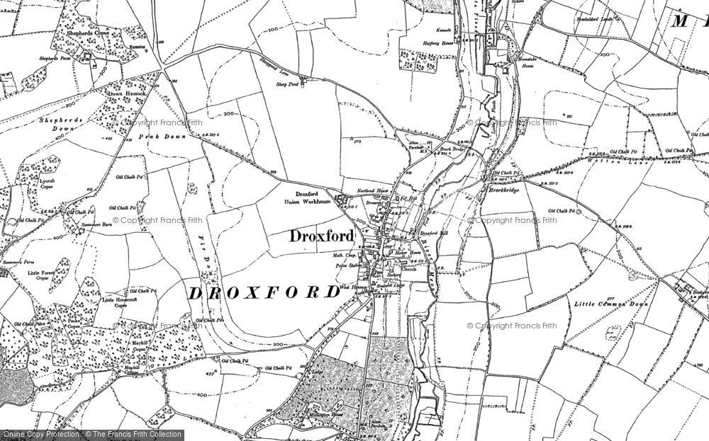 Map of Droxford, 1895