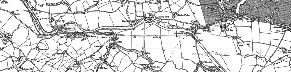 Old map of Druid in 1886