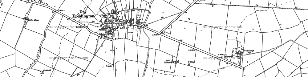 Old map of Westborough Lodge in 1886