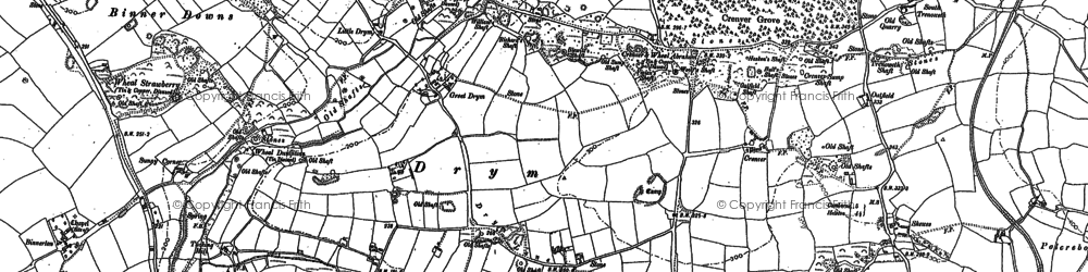 Old map of Drym in 1877