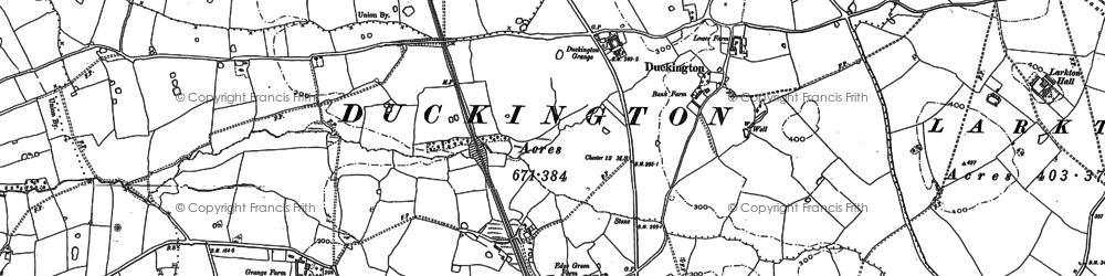 Old map of Larkton Hill in 1897