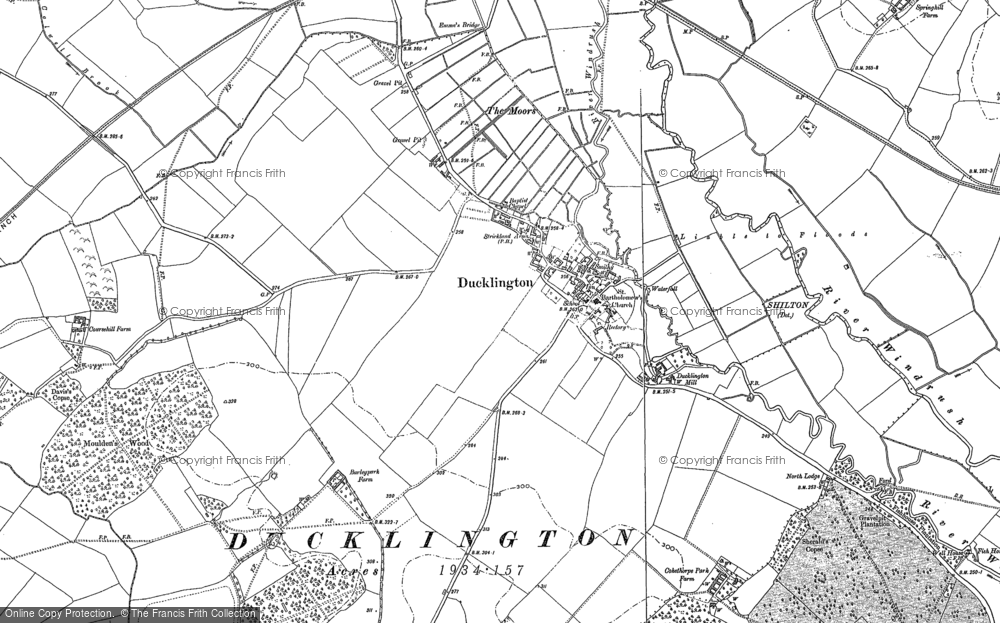 Old Map of Ducklington, 1898 in 1898