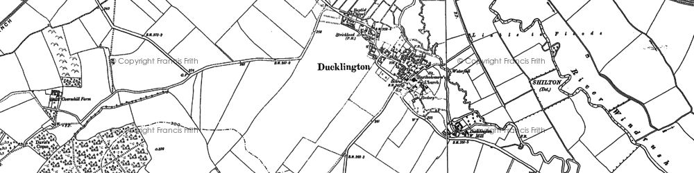 Old map of Ducklington in 1898
