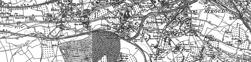 Old map of Dudbridge in 1882