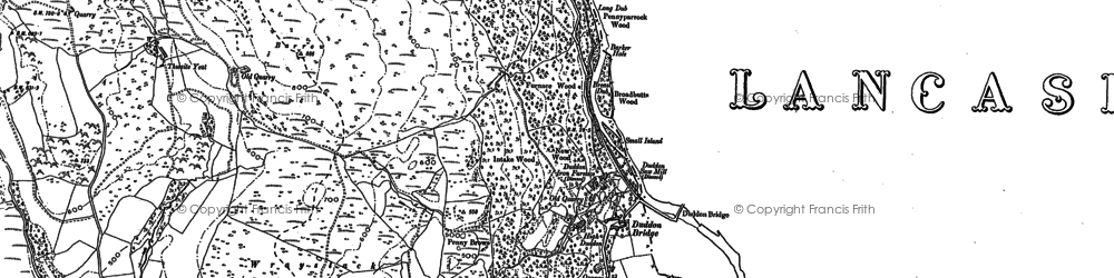 Old map of Thwaite Yeat in 1911