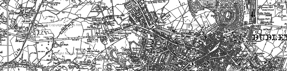 Old map of Dudley in 1881