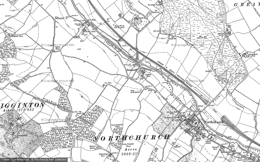 Old Map of Historic Map covering Tinker's Lodge in 1897
